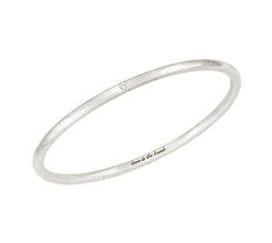 Love Is The Bomb - 1 White Diamond Bangle