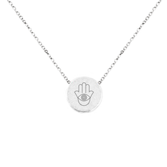"HAMSA ""EYE OF PROTECTION"" NECKLACE"