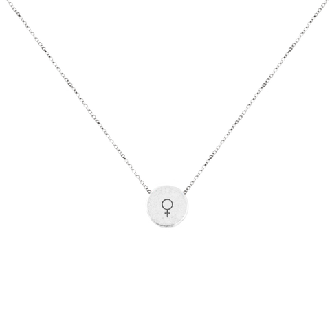 WOMAN CIRCLE DISC NECKLACE