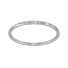 "Load image into Gallery viewer, ""EACH STEP IS NOW"" BANGLE - MICHELA MARTELLO COLLABORATION"