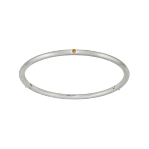 YOUR MESSAGE Birthstone 14K Skinny Bangle