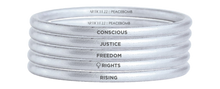 Load image into Gallery viewer, Oslo Freedom Forum Bangle Stack Of 4 ($35 each)