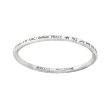 Load image into Gallery viewer, PEACE ALL AROUND BANGLE