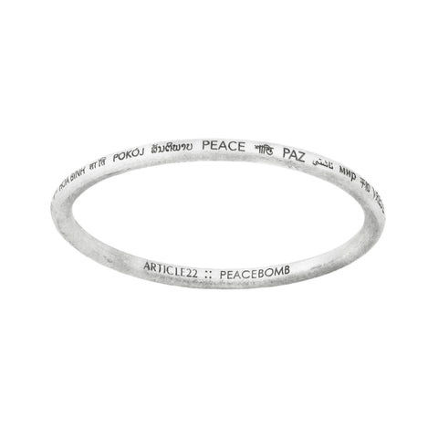 PEACE ALL AROUND BANGLE x10 BUNDLE (save 35%, reg. $455)
