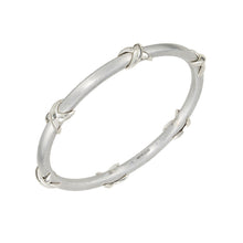 Load image into Gallery viewer, Silver Ribbon Bangle