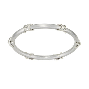 Silver Ribbon Bangle