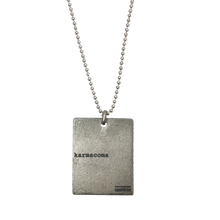 "Load image into Gallery viewer, ""KARMACOMA"" RECTANGLE NECKLACE - MASSIVE ATTACK X LEGACY OF WAR COLLABORATION"