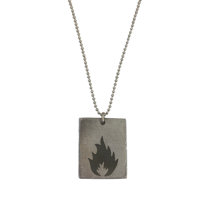 """KARMACOMA"" RECTANGLE NECKLACE - MASSIVE ATTACK X LEGACY OF WAR COLLABORATION"
