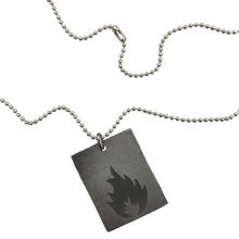 "Load image into Gallery viewer, Massive Attack x Legacy Of War RECTANGLE 30"" Necklace - SILVER"
