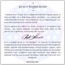 "Load image into Gallery viewer, The ""Peace Begins In Me"" True Inspirations Necklace"