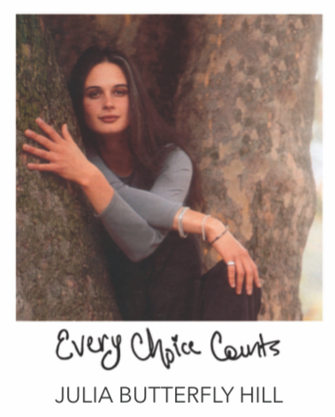 """EVERY CHOICE COUNTS"" BANGLES  - JULIA BUTTERFLY HILL COLLABORATION"