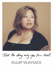 "Load image into Gallery viewer, ""TELL THE STORY ONLY YOU CAN TELL"" BANGLE - KULAP VILAYSACK COLLABORATION"