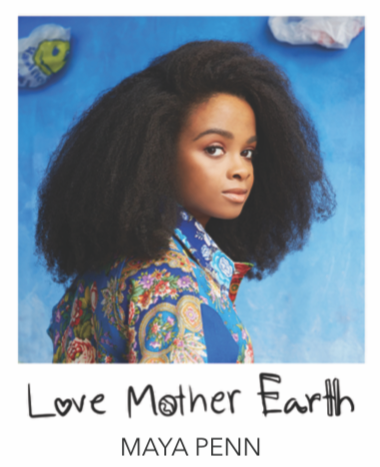 """LOVE MOTHER EARTH"" BANGLE - MAYA PENN COLLABORATION"