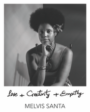"Load image into Gallery viewer, ""LOVE + CREATIVITY + EMPATHY"" BANGLE - MELVIS SANTA COLLABORATION"