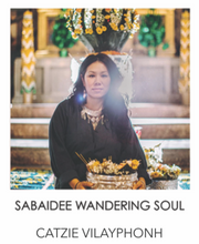 "Load image into Gallery viewer, ""SABAIDEE WANDERING SOUL"" BANGLE - CATZIE VILAYPHONH COLLABORATION"