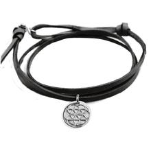 Load image into Gallery viewer, Seed of Life Leather Bracelet