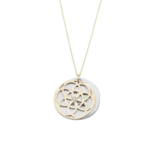 Load image into Gallery viewer, SEED OF LIFE NECKLACE 14K GOLD + DIAMOND SET  (RRP $1,300)