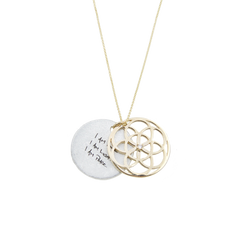 SEED of Life Necklace 14k GOLD + DIAMOND