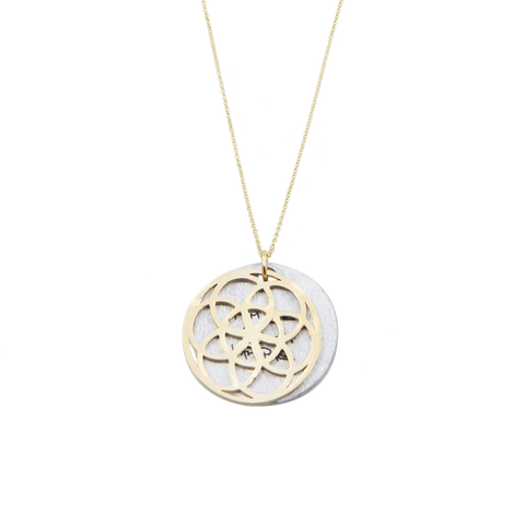 SEED OF LIFE NECKLACE 14K GOLD
