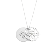 Load image into Gallery viewer, SEED OF LIFE NECKLACE WITH DIAMOND