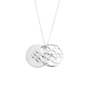 SEED of Life Necklace Silver + DIAMOND OR PRECIOUS GEMSTONE