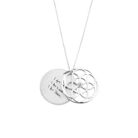 SEED OF LIFE NECKLACE SILVER + DIAMOND