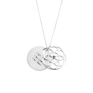 BIRTHSTONE SEED OF LIFE NECKLACE - SILVER