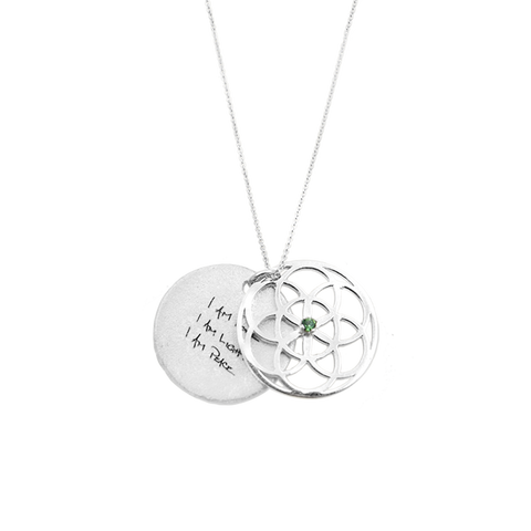 SEED of Life Necklace Diamond or Erinite