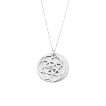 Load image into Gallery viewer, SEED OF LIFE NECKLACE SILVER WITH DIAMOND
