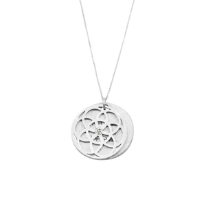 SEED OF LIFE NECKLACE WITH DIAMOND