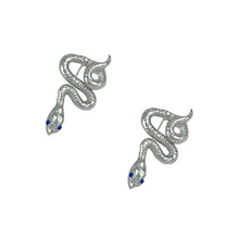 Load image into Gallery viewer, SAPPHIRE SNAKE EARRINGS
