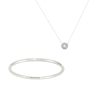 LITTLE, BUT FIERCE DIAMOND BANGLE + NECKLACE SET (save 16%, RRP $315)