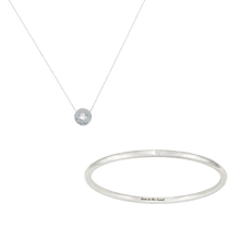 Load image into Gallery viewer, LITTLE, BUT FIERCE DIAMOND BANGLE + NECKLACE SET (save 16%, RRP $315)
