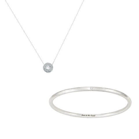 LITTLE, BUT FIERCE DIAMOND BANGLE + NECKLACE SET (save 16%, reg. $315)