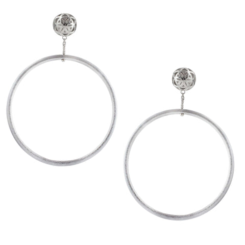 SPHERIC SEED of Life Hoop Earrings