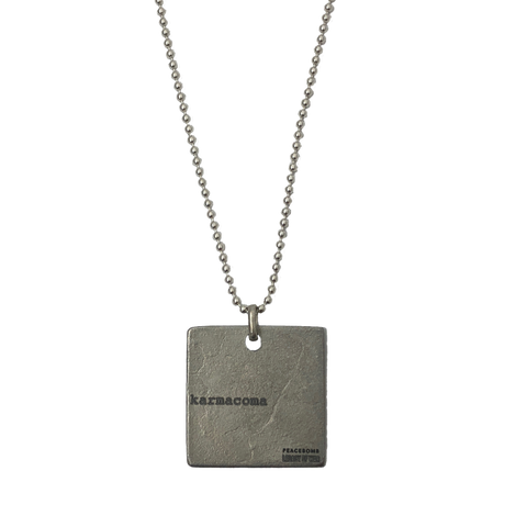 Massive Attack x Legacy Of War SQUARE Necklace - SILVER