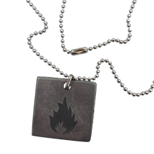 Load image into Gallery viewer, Massive Attack x Legacy Of War SQUARE Necklace - SILVER