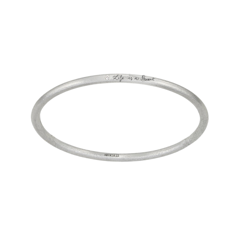 CUSTOM WHITE DIAMOND BANGLE