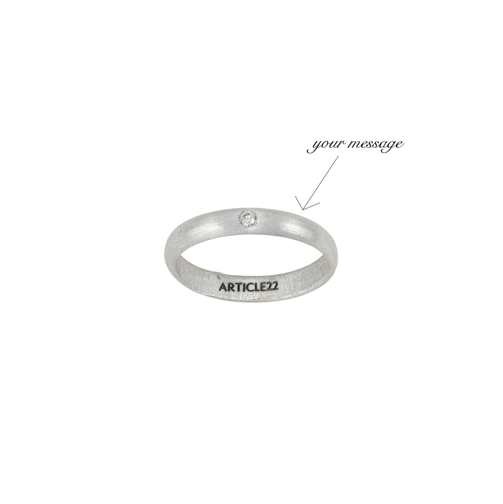 Your Message Diamond Ring