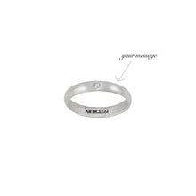Load image into Gallery viewer, CUSTOM ENGRAVED DIAMOND RING