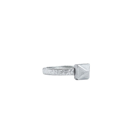Ashes Stud Ring Sterling Silver