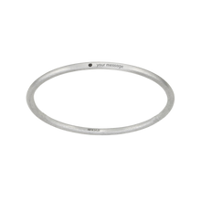 Load image into Gallery viewer, Your Message Black Diamond Bangle