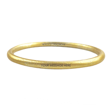 Load image into Gallery viewer, CUSTOM ENGRAVED GOLD TONE CLASSIC BANGLE - LIMITED EDITION