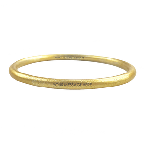 CUSTOM ENGRAVED GOLD TONE CLASSIC BANGLE - LIMITED EDITION
