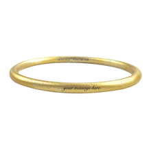 Load image into Gallery viewer, CUSTOM ENGRAVED GOLD ANODIZED BANGLE - LIMITED EDITION