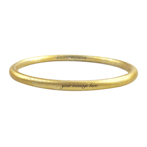 CUSTOM ENGRAVED GOLD ANODIZED BANGLE - LIMITED EDITION