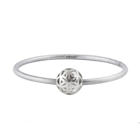 SPHERIC SEED OF LIFE BANGLE - SILVER