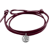 Load image into Gallery viewer, FRUIT OF LIFE LEATHER BRACELET