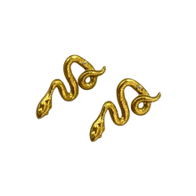 Load image into Gallery viewer, NEW GOLD TONE SNAKE EARRINGS