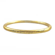 "Load image into Gallery viewer, ""TAKE UP SPACE BEING YOUR WHOLE SELF""  GOLD ANODIZE BANGLE - RYANN RICHARDSON COLLABORATION"